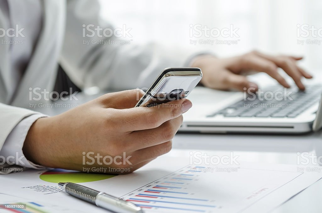 Texting message royalty-free stock photo
