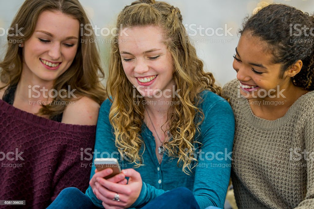 Texting on a Cell Phone stock photo