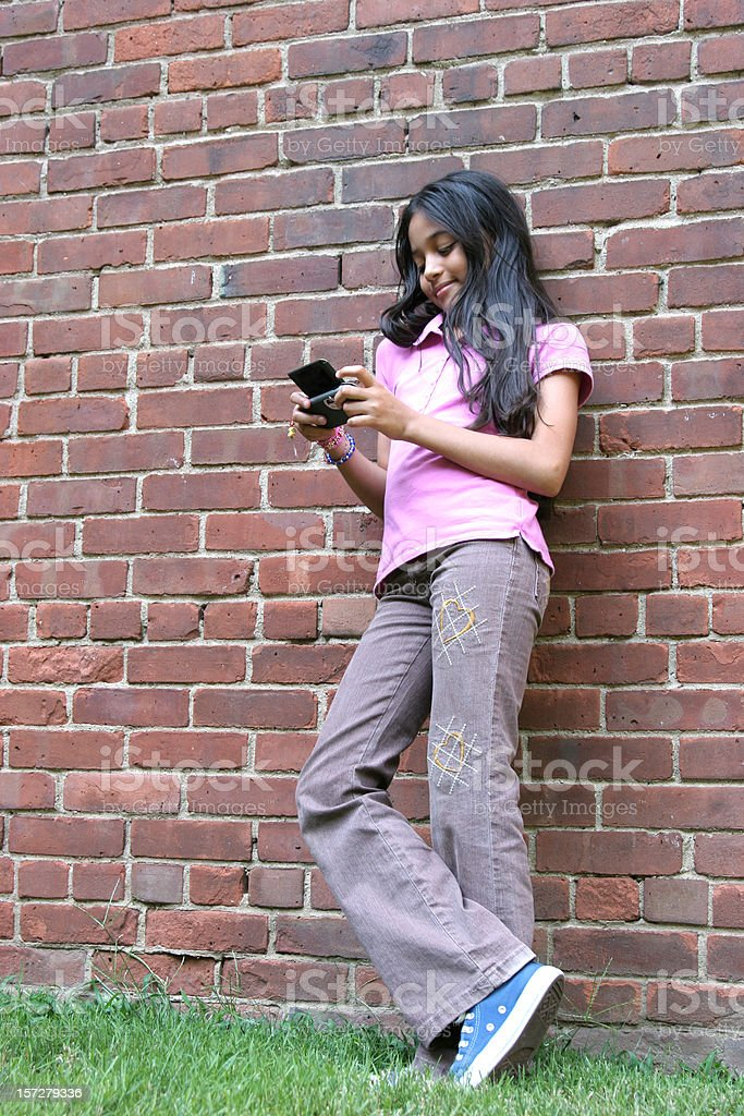 Texting On The Wall royalty-free stock photo