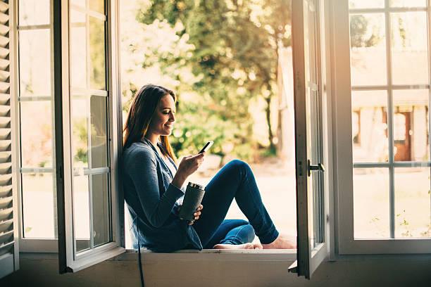 sms - outdoor handy stock-fotos und bilder