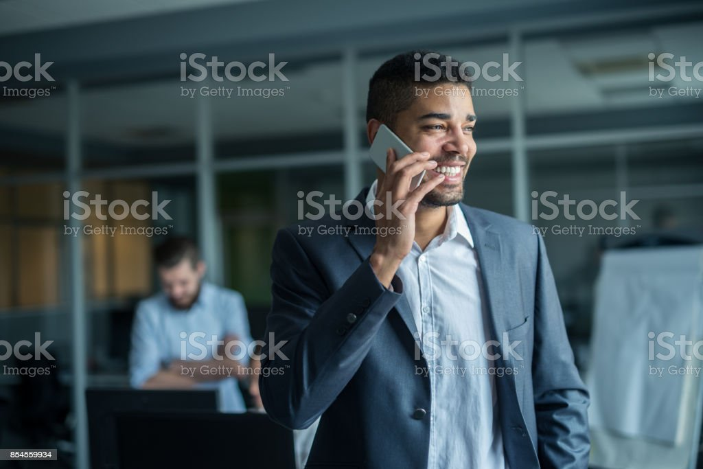Texting with clients stock photo