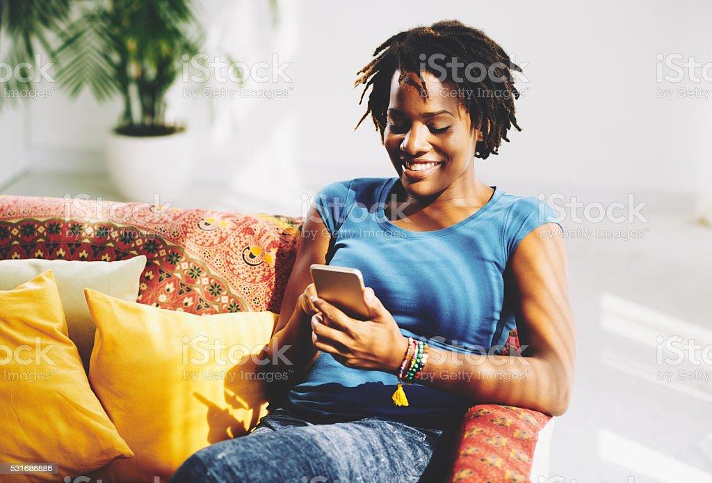 Texting woman stock photo