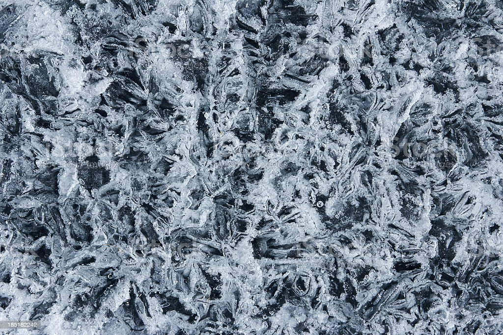 Textural background from Baikal ice royalty-free stock photo