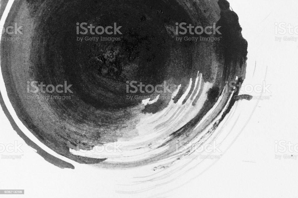Textura abstrato circel tinta, preto e branca. - foto de acervo