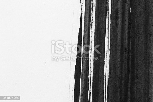 istock Texture abstract background ink style, black and white. 931574060