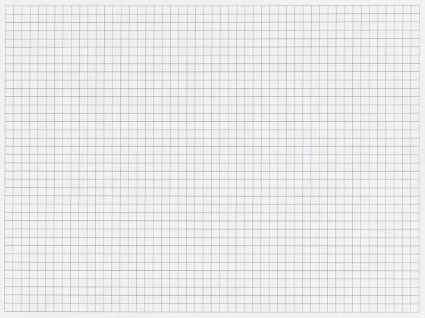 テクスチャの背景: グリッド用紙の空白のシート。テンプレートとして使用することができます。 - ます目 ストックフォトと画像
