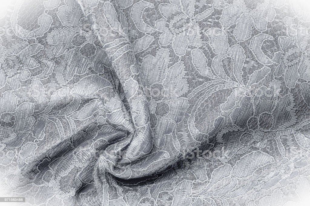 Texture Background Image Black And White Fabric With A Pattern Of