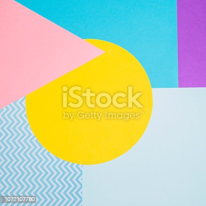 istock Texture background of fashion papers in memphis geometry style. 1072107780