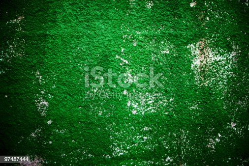 Texture Background Of Green Rough Wall Stock Photo & More Pictures of Abstract