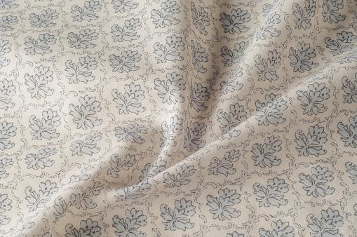 Textur Hintergrundmuster Baumwolltuch Ist Grau Flache Bauweise Des Grünen Und Grauen Blumen Isoliert Auf Weißem Hintergrund Blumenmuster Stockfoto und mehr Bilder von Abstrakt
