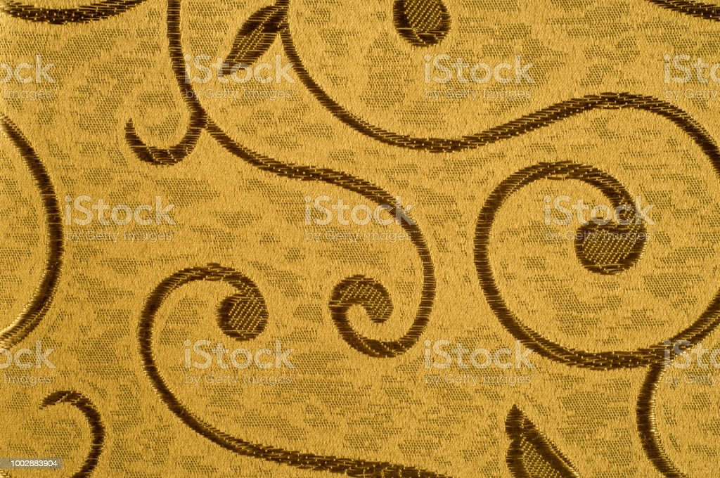 Texture Background Pattern Damask Fabric With Shiny Patterns On A Matte
