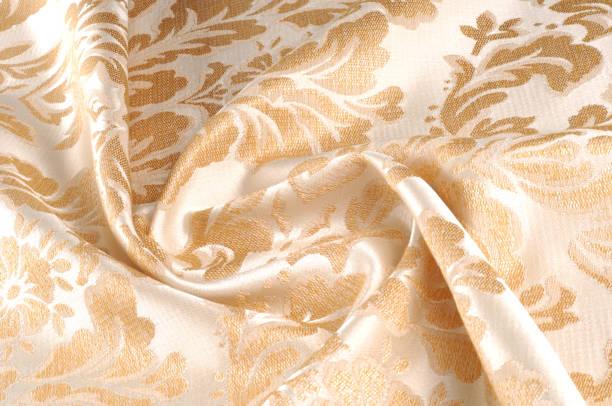 texture, arrière-plan, motif. tissu ameublement damassé est réversible tissu de soie, laine, lin, coton ou fibres synthétiques, façonné avec un motif formé par tissage. - damas en matière textile photos et images de collection