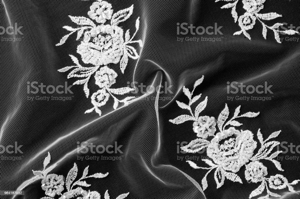 Texture Arriereplan Motif Dentelle Tissu Blanc Fleurs En Tissu De
