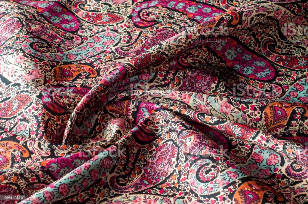 De patroon van de achtergrond van de textuur.  Paisley vintage bloemen motief etnische naadloze achtergrond. Abstracte kantpatroon. Imitatie van een textielfabriek. Handgeschilderd kleurrijk behang - Royalty-free Abstract Stockfoto