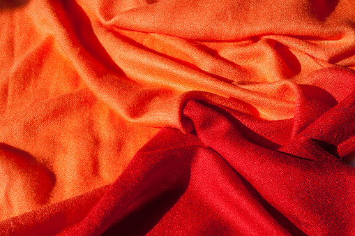 Texture Background Pattern Red Woolen Female Scarf - Fotografias de stock e mais imagens de Acessório
