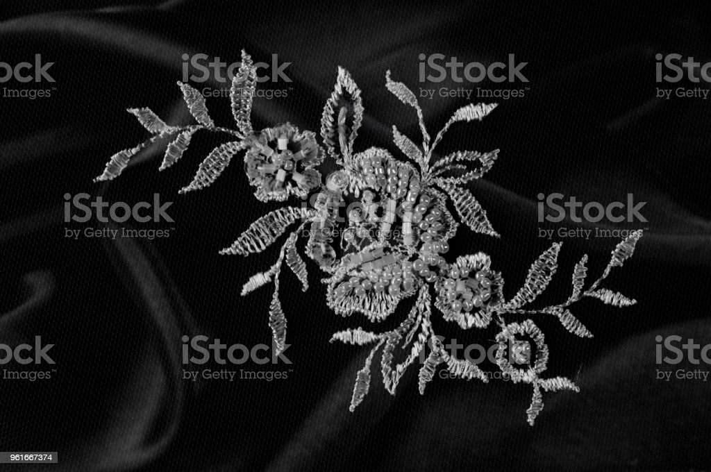 Texture Background Pattern Silk Fabric Lace Fabric Compiled In