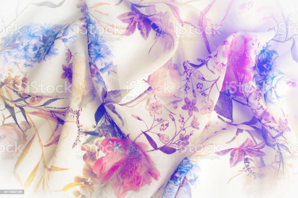 Texture Arrièreplan Motif Tissu En Soie Texture Avec Des Fleurs ... fd580d23ed0