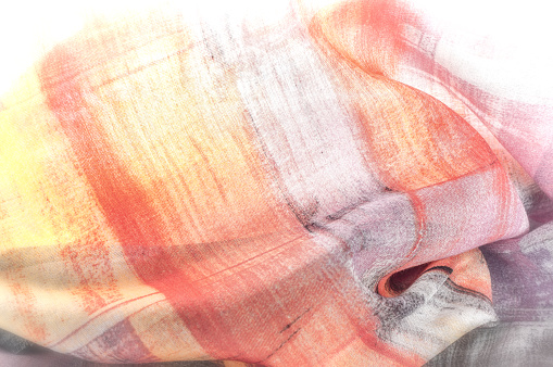De Patroon Van De Achtergrond Van De Textuur Zijde Dunne Stof Abstracte Patroon Van Witte Groene Rode Roze En Gele Pleinen Stockfoto en meer beelden van Abstract