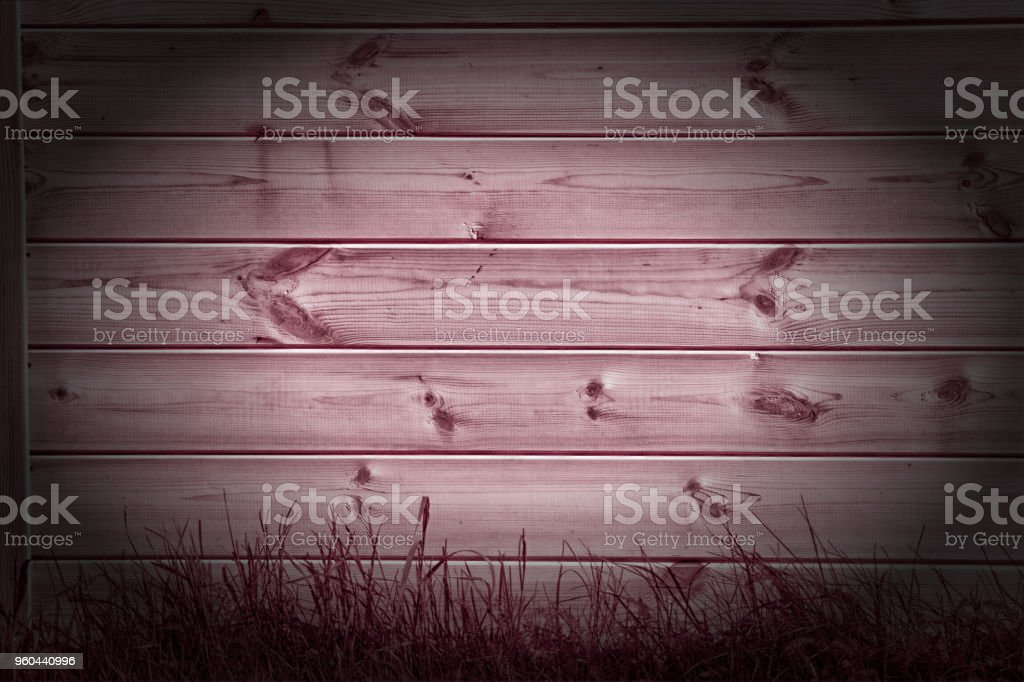 Texture, background, pattern. The red-painted boards are visible from above as a background with space for copying and assembling. stock photo