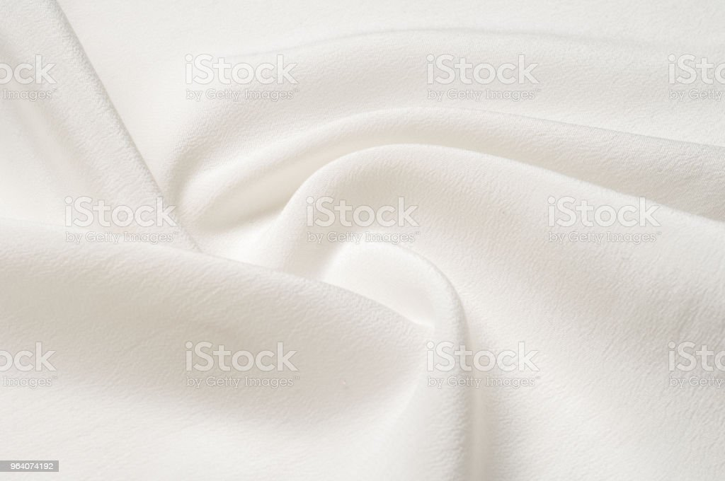 Texture background pattern. White silk fabric. Closeup of a rippled white silk fabric. Advertising space. Smooth elegant white silk can be used as a wedding background. - Royalty-free Abstract Stock Photo