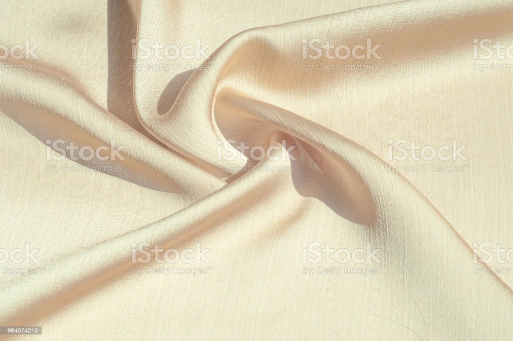 Texture, background, pattern. Women's shawl Colors. Goldenrod. Lemon cream. The Navajo is white. The old gold. silk fabric. - Royalty-free Abstract Stock Photo
