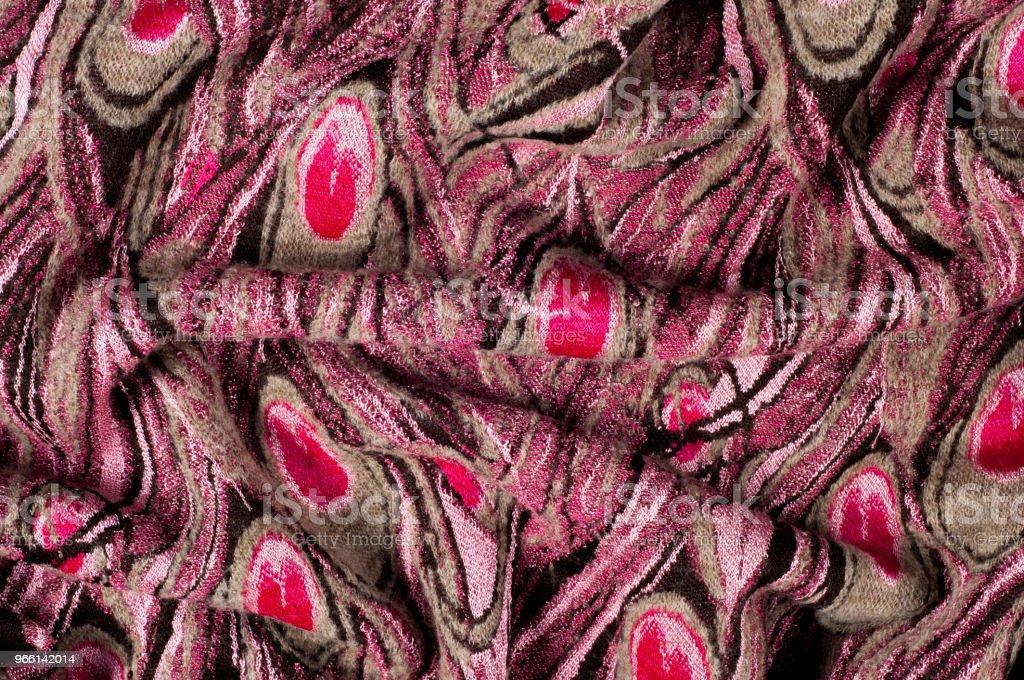 Textur, bakgrund, mönster. Ylle kvinnors tröja, tröja mönster av påfågel fjädrar - Royaltyfri Abstrakt Bildbanksbilder