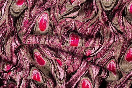Textuur Achtergrond Patroon Wollen Vrouwen Sweater Trui Patroon Van Pauwenveren Stockfoto en meer beelden van Abstract