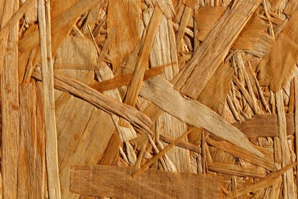 OSB texture background. Wood strand texture. stock photo