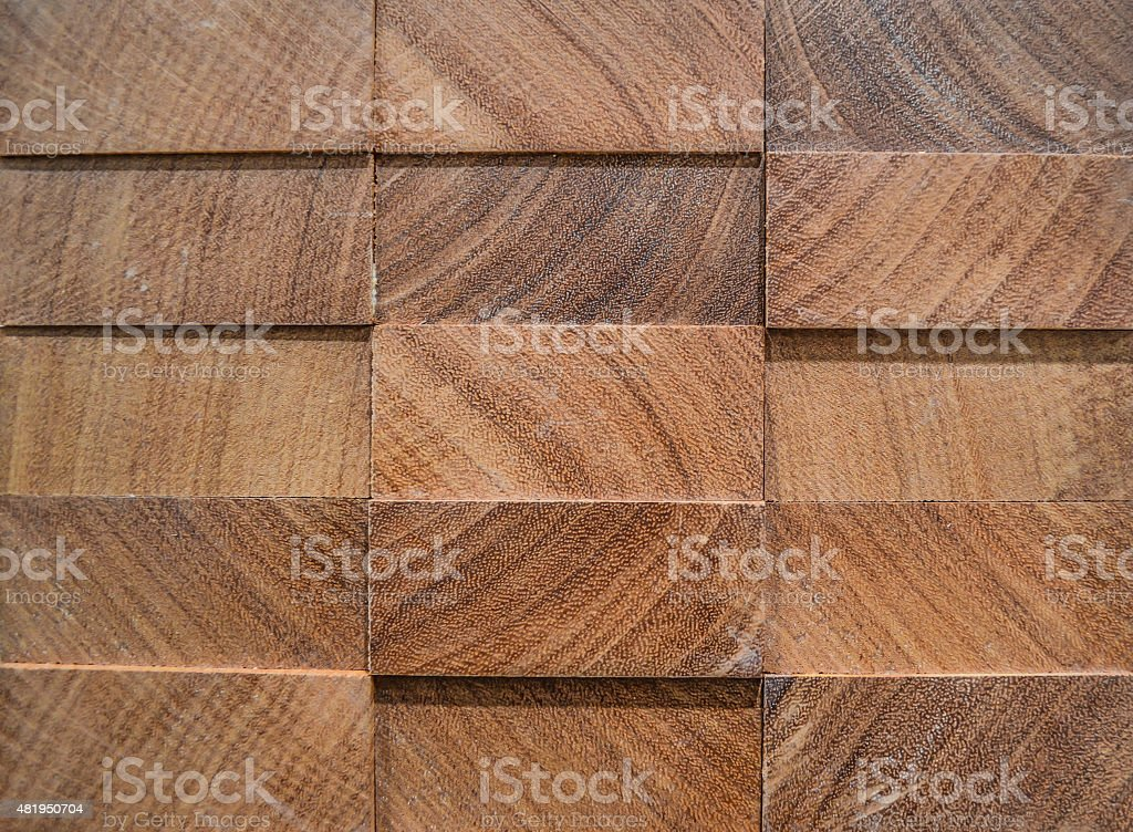 Texture, backgrounds. 3D panel from exotic wood, afrormosia. stock photo