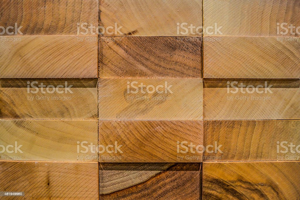 Texture, backgrounds. 3D panel from exotic wood stock photo