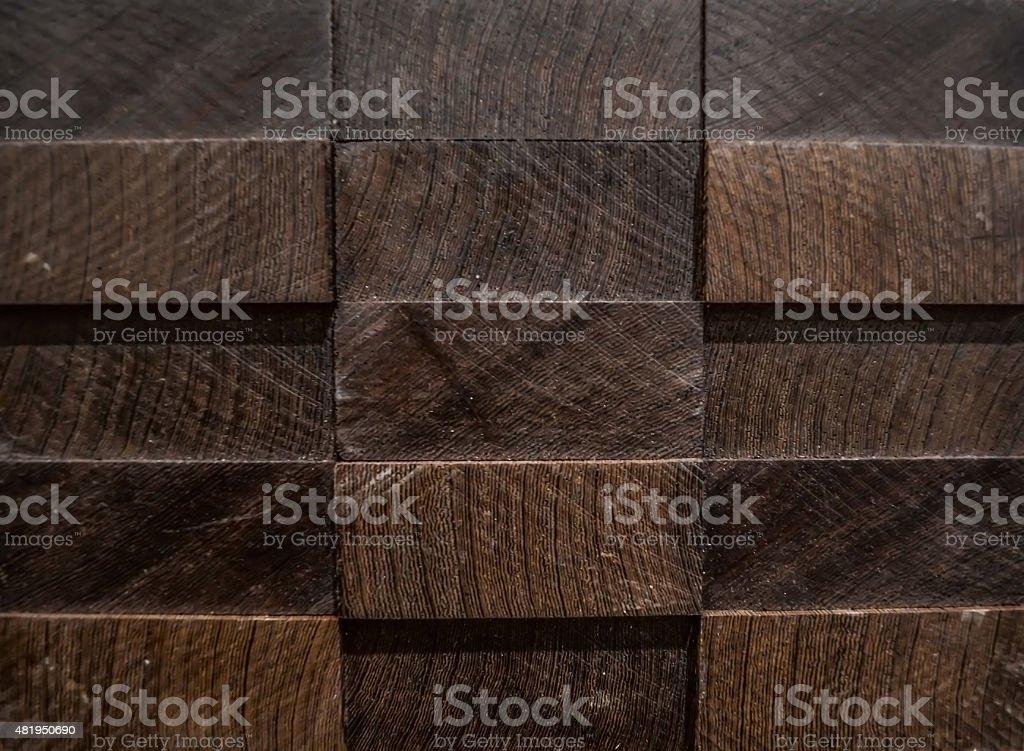 Textures, arrière-plans. 3 D panneau de bois exotique wenge. - Photo
