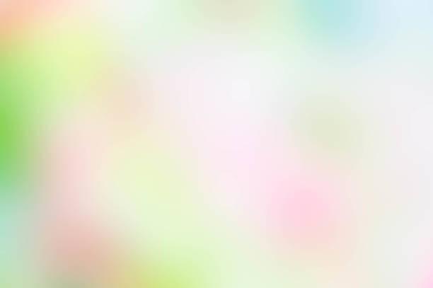 テクスチャぼかし緑ピンク黄色と白のミックス色パステル自然背景、抽象的な緑ピンク ミックス色ぼかし ストックフォト