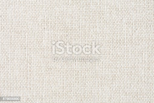 istock Texture canvas fabric as background 879656890