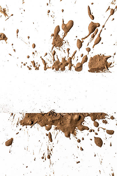 texture clay moving in white background - mud stock photos and pictures