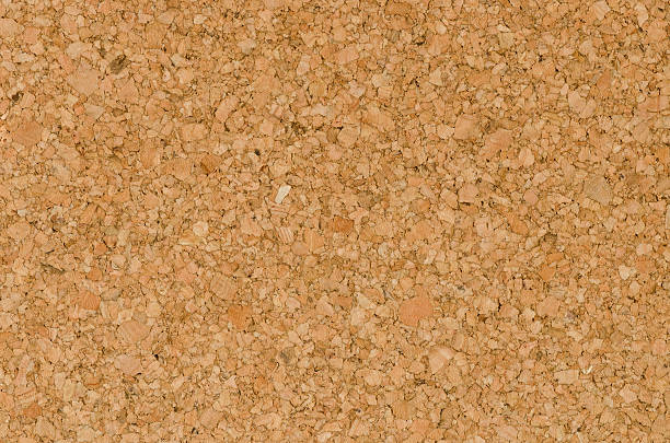 Texture Color Detail of Surface Cork Board Wood Background stock photo