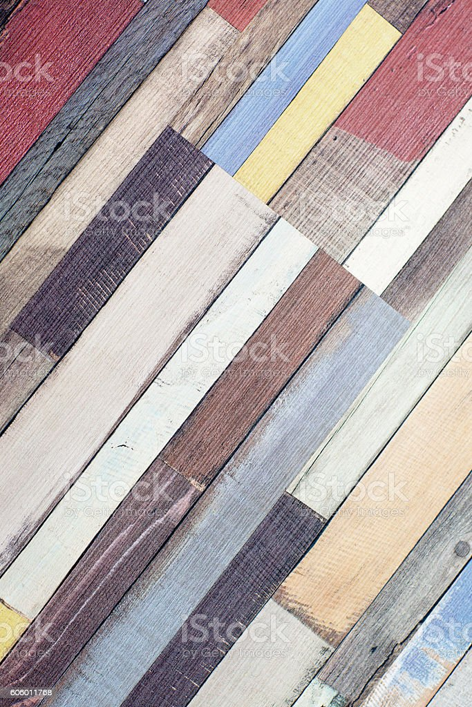 Texture colorful wooden planks. stock photo