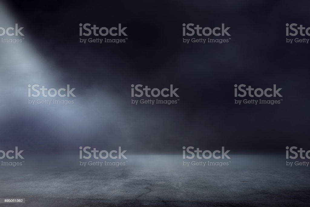 Texture dark concentrate floor with mist or fog stock photo