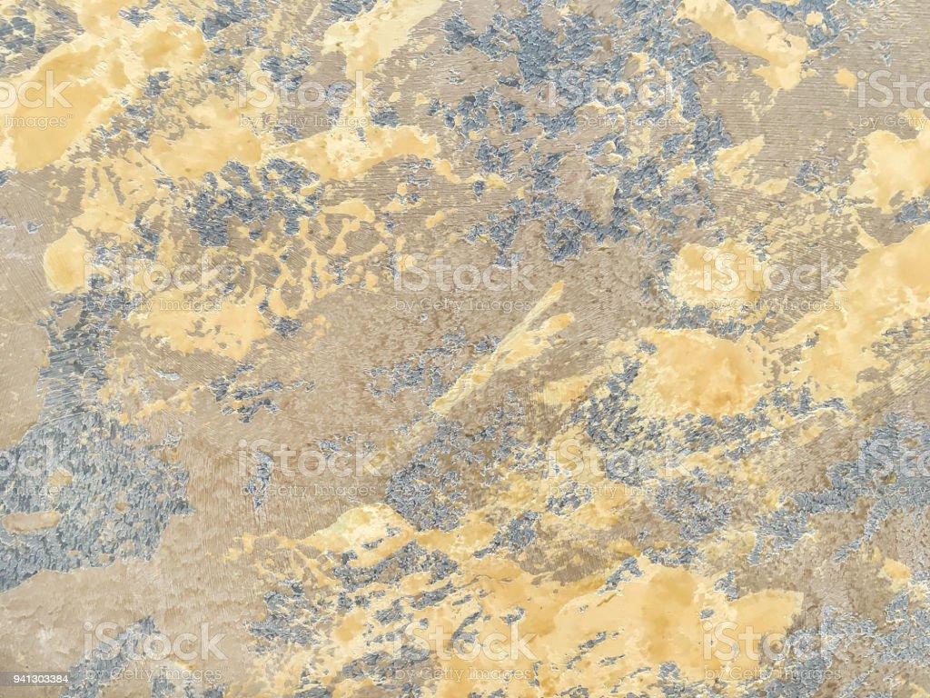 Texture Decorative Yellow Plaster Imitating The Old Peeling Wall ...
