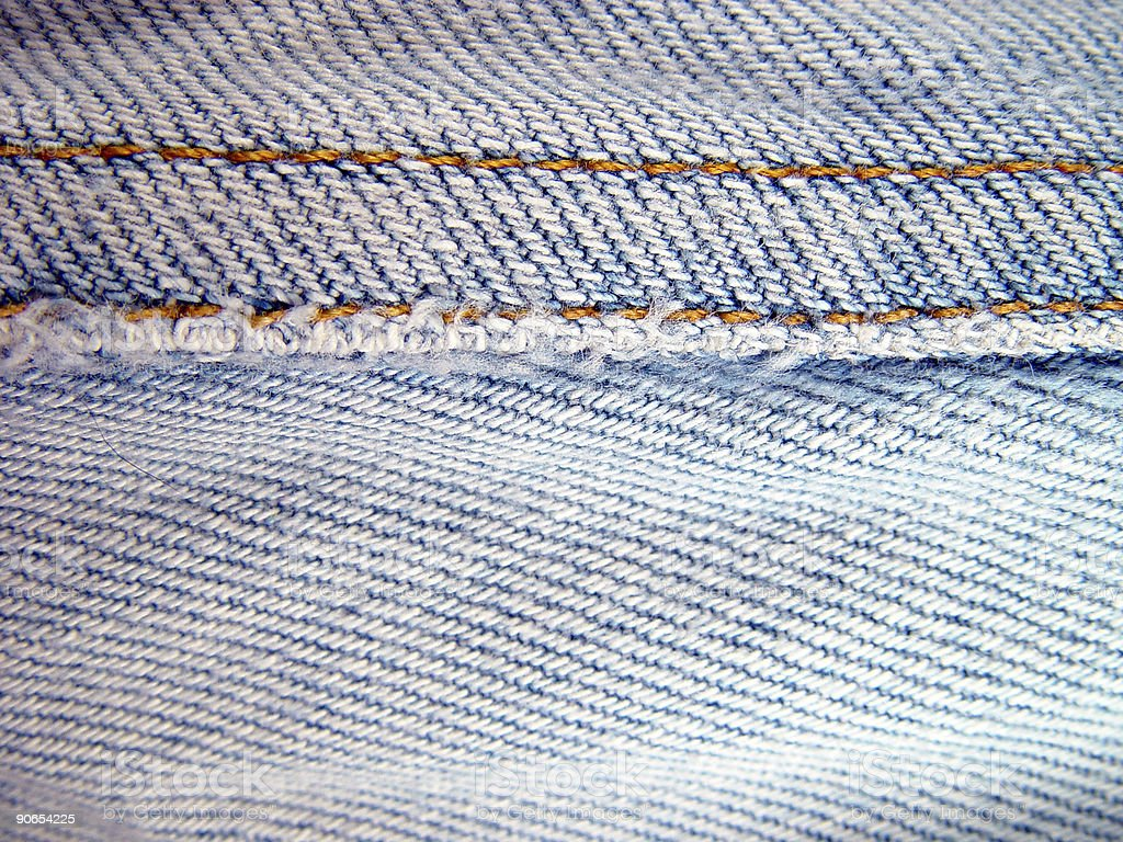Texture, Denim Seam royalty-free stock photo