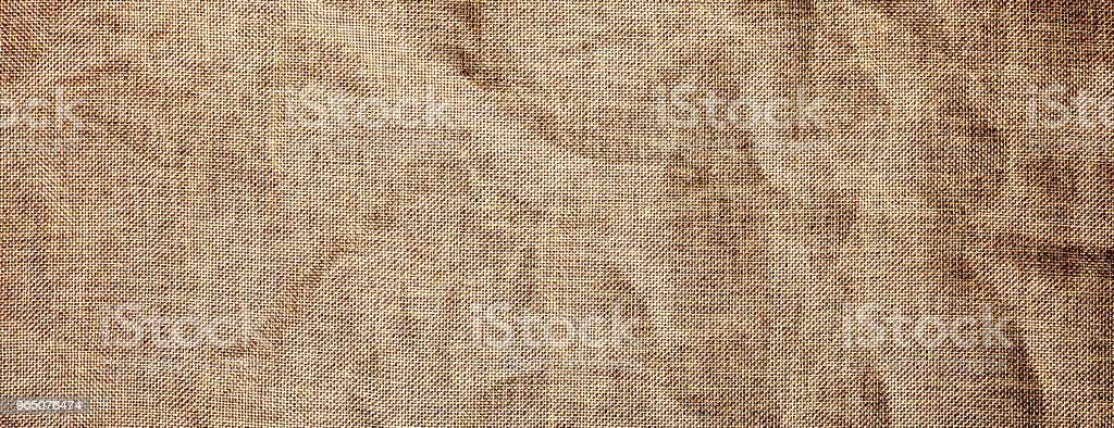 Texture detailed background jute burlap fabric crumpled royalty-free stock photo
