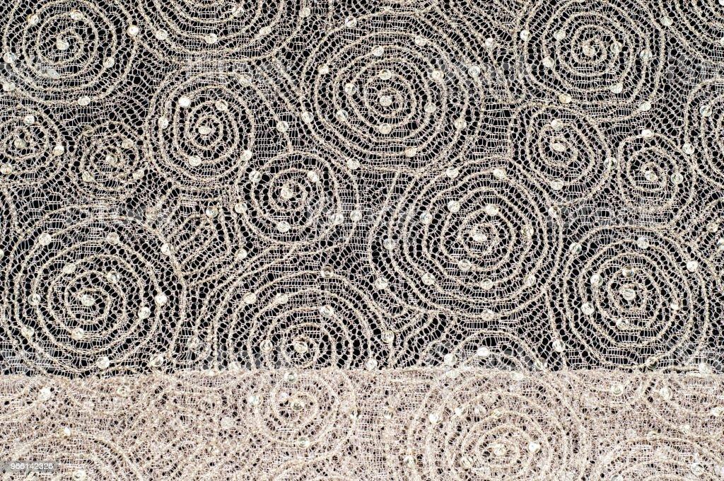 Textur, Stoff, Hintergrund. Spitze Stoff mit einem Muster aus einem Kreis mit einem Faden von Goldfaden - Lizenzfrei Abstrakt Stock-Foto