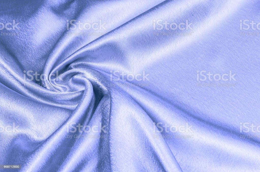 texture, Fabric made of silk fabric, metal thread. metallic sheen. blue. The blue ocean. Emerald green metallic. What a dazzling sight this turquoise and metallic golden rainbow silk! Tropical Blue stock photo