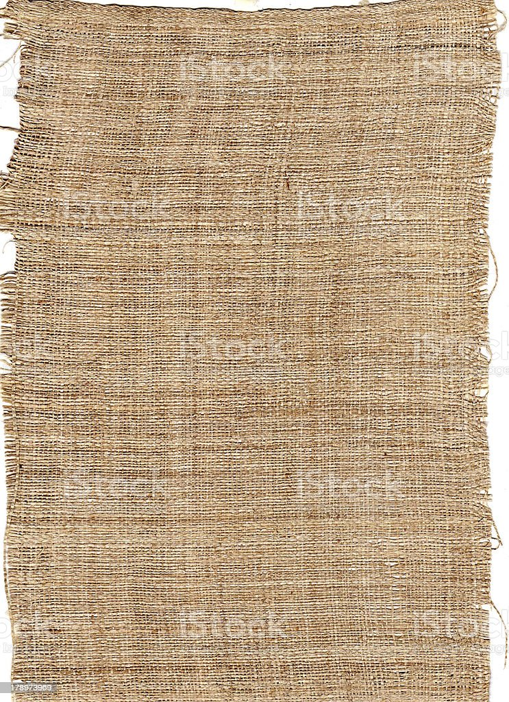 texture fiber from natural burlap hessian sacking royalty-free stock photo