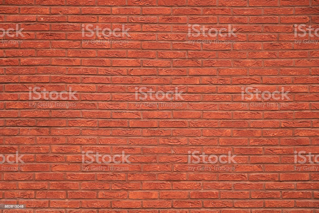 Texture - fragment of a red brick wall stock photo