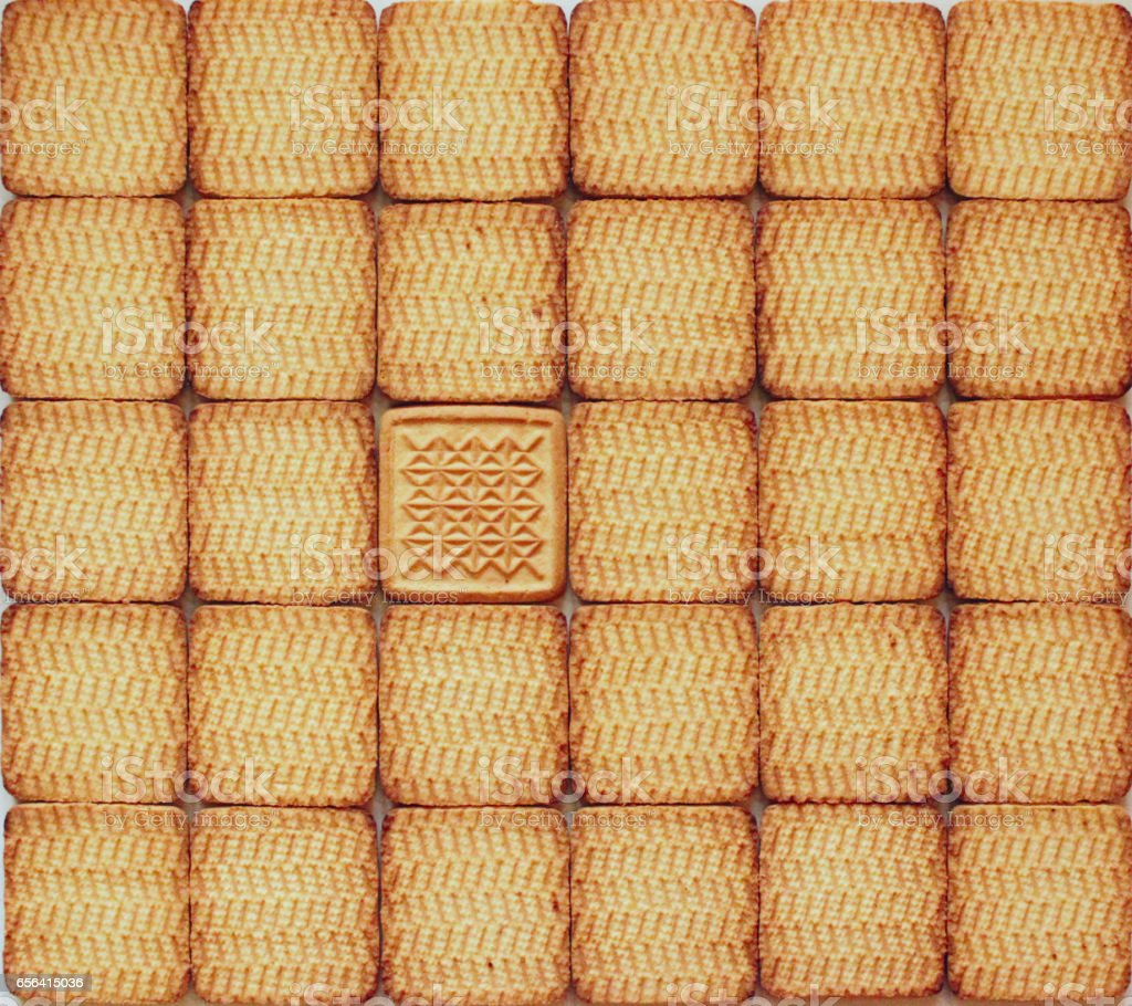 texture from identical pastry with single unique stock photo