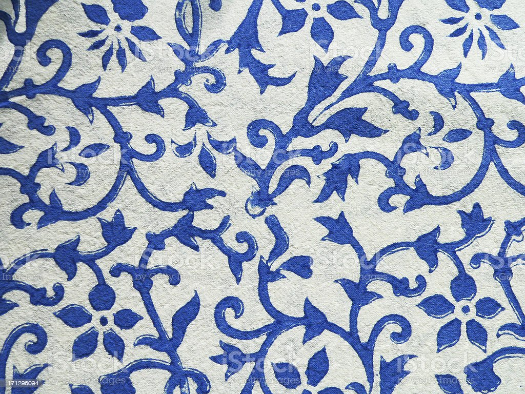 Texture Indian Blue Print On White Cotton Fabric Stock Photo ... for Fabric Texture Design Blue  545xkb