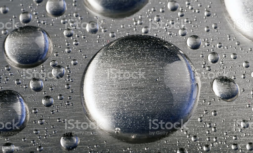Texture metal with drops water. stock photo
