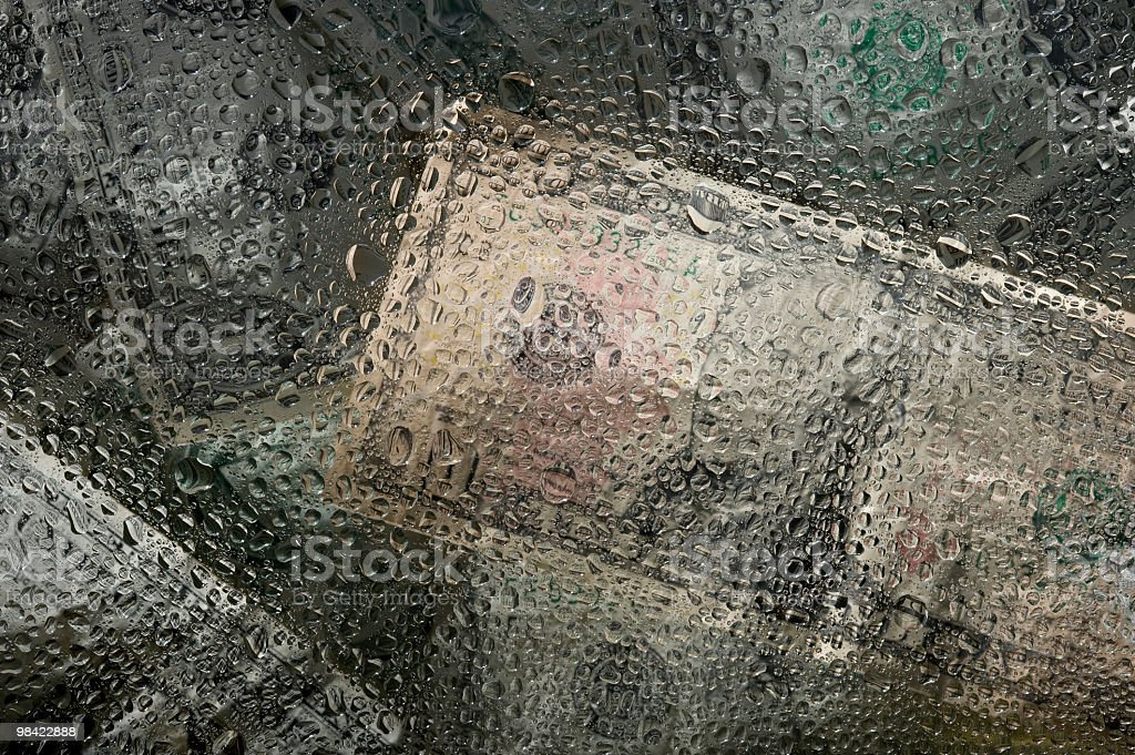 Texture metallic with drops stock photo
