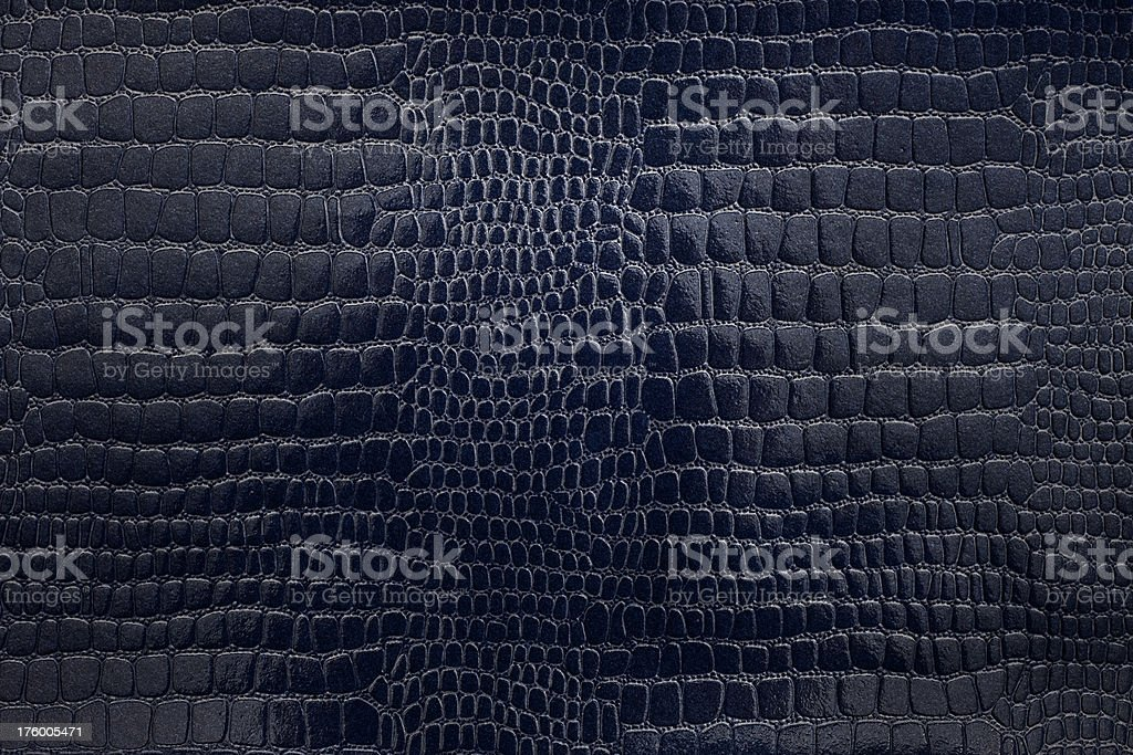 Texture navy snakeskin paper stock photo