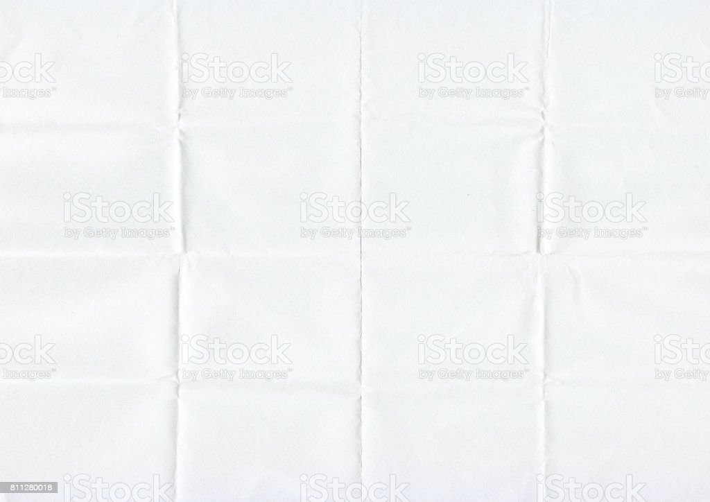Texture of 16 folded paper stock photo
